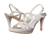 Stuart Weitzman Bridal And Evening Collection Axis Moonglow Satin High Heels White
