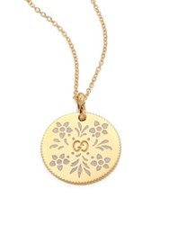 Gucci Icon Blooms 18K Yellow Gold Pendant Necklace