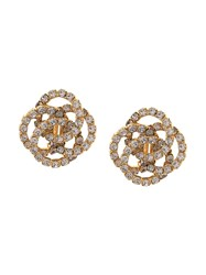 Jennifer Behr Oversized Stud Detail Earrings Gold