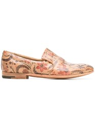 Premiata Floral Print Slippers Brown