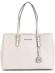Michael Michael Kors Large 'Jet Set Travel' Tote Nude And Neutrals