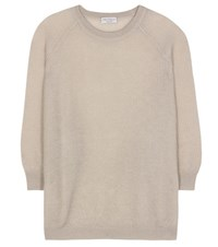 Brunello Cucinelli Mohair And Wool Blend Pullover Beige