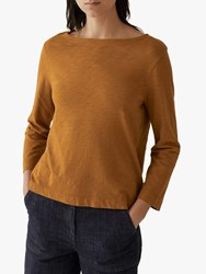 Toast Garment Dye Cropped Sleeve Top Cumin