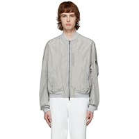 Haider Ackermann Grey Nylon Bomber Jacket