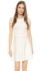 Red Valentino Flutter Sleeve Knit Dress White