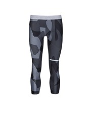 The Upside 'Geo Camo' Print Performance Fabric Cropped Tights Grey