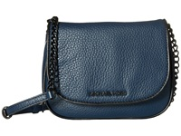 Michael Michael Kors Jet Set French Binding Small Crossbody Navy Black Cross Body Handbags Blue
