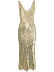 Rachel Zoe Lola Sequin Midi Dress Metallic