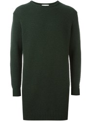 Soulland 'Wiese' Long Honey Comb Sweater Green