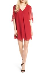 Soprano Women's Jules Split Sleeve Shift Dress Red Wine