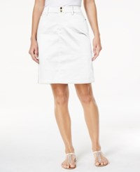 Charter Club Comfort Waist Skort Only At Macy's Bright White