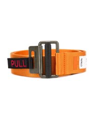 Heron Preston Logo Print Tape Belt Orange