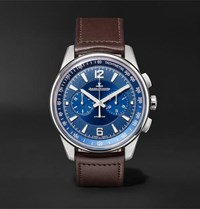 Jaeger Lecoultre Polaris Chronograph 42Mm Stainless Steel And Leather Watch Blue