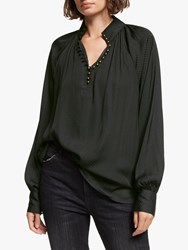 And Or Ivy Blouse Black