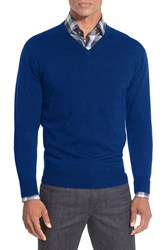 Men's Peter Millar Merino V Neck Sweater Royal