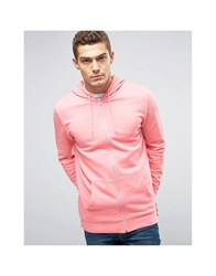 Asos Longline Zip Up Hoodie With Side Zips Candy Kitten Pink