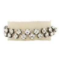 Ann Demeulemeester Beige Stone Glass And Beads Bracelet
