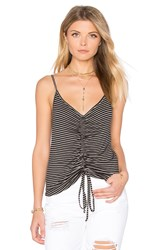 Project Social T Winona Scrunched Tank Black