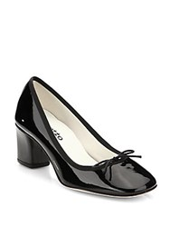 Repetto Patent Leather Bow Pumps Black