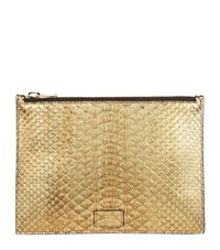 Tom Ford Small Python Pouch Gold