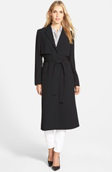 Halogen Wrap Front Long Trench Coat Regular And Petite Black