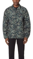 Rvca Va All The Way Coach Jacket Green