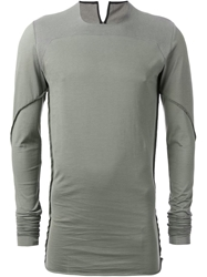 Lost And Found 'Carre' T Shirt Grey
