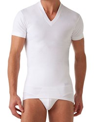 2Xist Fitted V Neck Tee White