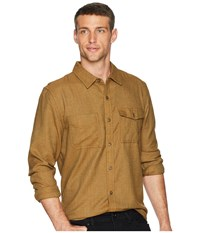 Toadandco Alverstone Long Sleeve Shirt Rustic Olive Clothing Brown