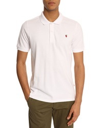 Knowledge Cotton Apparel Basic Logo White Polo Shirt