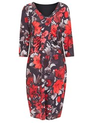Havren Lucy Bold Floral Dress Multi Coloured