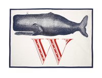 Thomas Paul W Whale Tea Towel Beige