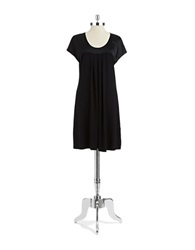 Lord And Taylor Satin Chemise Black