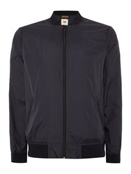 Lee Regular Fit Zip Through Baseball Bomber Jacket Black