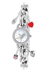 Game Time 'Nfl New York Jets' Charm Bracelet Watch 23Mm