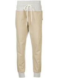Bassike Utility Drill Track Pants Nude And Neutrals