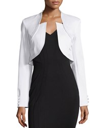 Zac Posen Antonella Fitted Cropped Jacket White