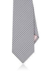 Fairfax Men's Geometric Silk Necktie Silver