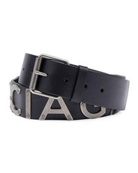 Balenciaga Logo Lettering Leather Belt Noir