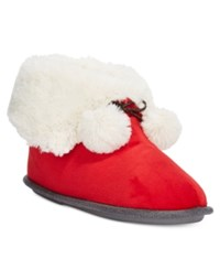 Cuddl Duds Snuggle Up Slipper Booties Red