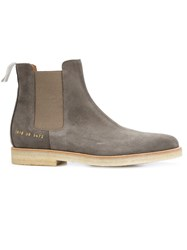 Common Projects Slim Chelsea Boots Grey