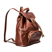 Maxwell Scott Bags Tan Quality Leather Rucksack For Ladies