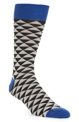 Lorenzo Uomo Triangles Socks Black