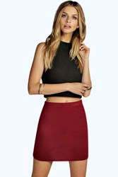 Boohoo Bodycon Mini Skirt Berry