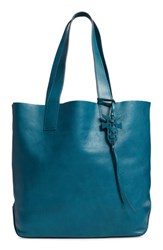 Frye Carson Leather Tote Blue Green Peacock