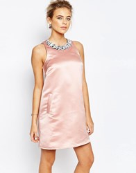 True Decadence A Line Mini Dress With Embellishment Sugar Pink