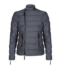 Emporio Armani Biker Detail Quilted Jacket Male Light Grey