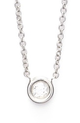 Bony Levy Small Diamond Solitaire Pendant Necklace Limited Edition Nordstrom Exclusive White Gold