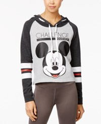 Disney Juniors' Mickey Graphic Hoodie Heather Grey Heather Charcoal