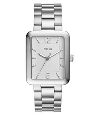 Fossil Atwater Rectangular Stainless Steel Bracelet Watch